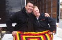 Gavin Jones with Vibe co-worker, Soozie Gillies.